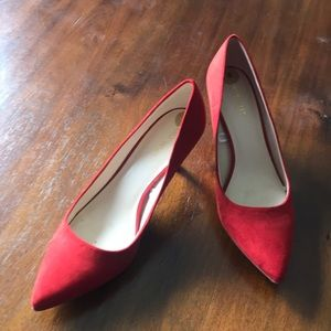 red two inch heels